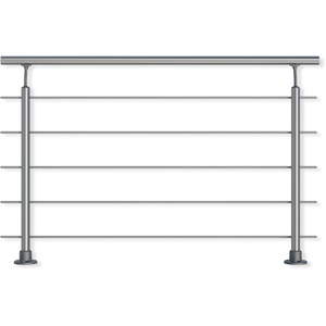 Geländer-Set aus Aluminium. Für aufgesetzte Montage. 1,50 m. Als Treppengeländer, Brüstungsgeländer, Balkongeländer oder Terrassengeländer einsetzbar. Alu geeignet für den Innen- und Außenbereich.
