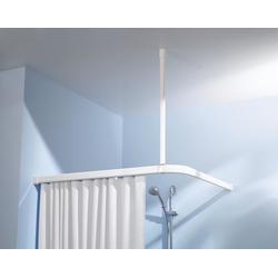 Vorhangschiene Deckenhalterung, Kleine Wolke, Ø 24 mm, kürzbar, für Duschvorhänge