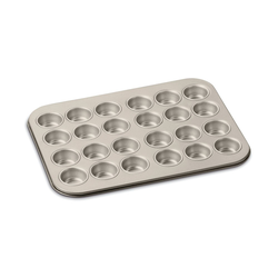 Cuisinart Chef's Classic 24 Cup Non-Stick Champagne Color Mini Muffin Pan - AMB-24MMPCH