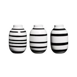 Kähler Tischvase Vase Omaggio Mini 3er Set schwarz