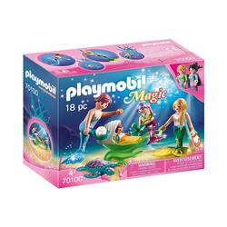Playmobil® Spielfigur PLAYMOBIL® 70100 Familie mit Muschelkinderwagen