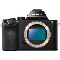 Sony ILCE-7B - Alpha 7 E-Mount Systemkamera (24,3 MP, Exmor CMOS Vollformatsensor, 7,5 cm (3 Zoll) LCD Display, Full HD Video, NFC, WLAN (Wi-Fi), nur Gehäuse)