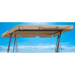 Quick Star Hollywoodschaukelersatzdach beige Sonnensegel Sonnenschirme -segel Gartenmöbel Gartendeko