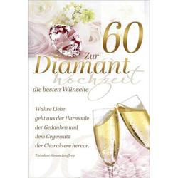73 201900   Bild Diamantene Hochzeitskarte