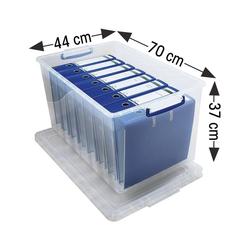 Otto Office Aufbewahrungsbox (3 Stück), für Ordner, 83 Liter 83 l - 37.2 cm x 37 cm x 61 cm