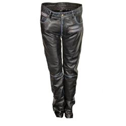 Lederhose als Leder Designer Jeans in ECHT-Leder im USED LOOK