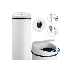 KESSER Mülleimer, Abfalleimer Abfall EDELSTAHL Papierkorb Automatik Sensor 30L 40L 50L 56L weiß 40 l