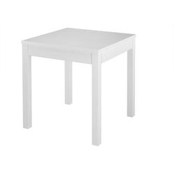 ERST-HOLZ Küchentisch Tisch kleiner Esstisch Massivholztisch weiß Küchentisch Beine glatt 90.70-50 A W