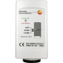 Testo 0554 0452 Kalibrator Schalldruckpegel 1x 9V Block-Batterie (enthalten)
