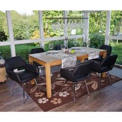 6x Esszimmerstuhl MCW-A50, Stuhl Küchenstuhl, Retro, Kunstleder ~ schwarz