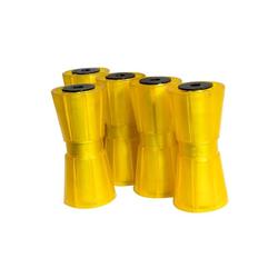 KNOTT-Kielrollen-Set in gelb, 5-teilig, für Pkw-Anhänger
