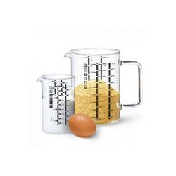 SIMAX Messbecher Messbecher mit Henkel 2er Set 0,5 l + 1 l, Glas