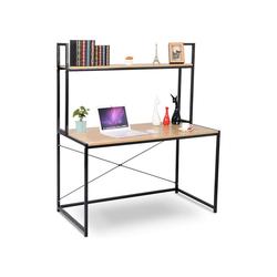 Woltu Schreibtisch, Schreibtisch mit Ablage in praktischem Design