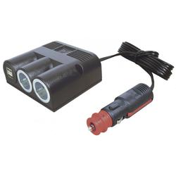 Procar Dreifachsteckdose mit Standard USB 1 x 3000 mA