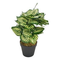 Kunstpflanze vidaXL Künstliche Pflanze Wassermelone Blätter mit Topf Grün 45 cm, vidaXL