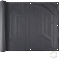 Tectake Balkon Sichtschutz, Variante 1 schwarz, 90 cm