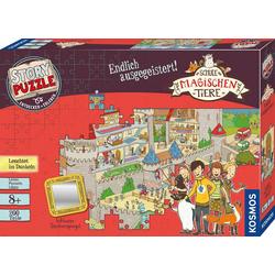 Kosmos Puzzle Story Puzzle: Die Schule der magischen Tiere, Endlich Ausgegeistert!, 200 Puzzleteile, mit Leuchteffekt; Made in Germany