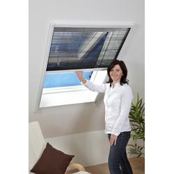 hecht international Insektenschutz-Dachfenster-Rollo, weiß/anthrazit, BxH: 80x160 cm weiß Insektenschutzfenster Insektenschutz Bauen Renovieren Insektenschutz-Dachfenster-Rollo