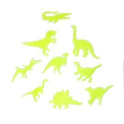 8 Leuchtdinos Sticker Dinosaurier Aufkleber leuchtend Wandsticker