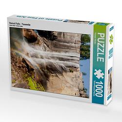Vernal Falls - Yosemite Lege-Größe 48 x 64 cm Foto-Puzzle Bild von TomKli Puzzle