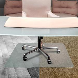 """Floortex Bodenschutzmatte   Bürostuhlunterlage """"anti-rutsch unomat""""   119 x 89 cm   aus Original-Floortex-Polycarbonat   transparent   rechteckig   TÜV zertifiziert   für polierte & glatte Böden   sehr niederflorige Teppichböden und Teppichfliesen"""