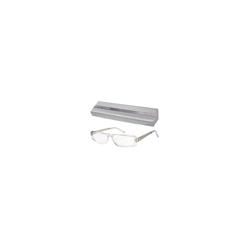 NEW YORK Brille kristall-silber +1,00 dpt 1 St