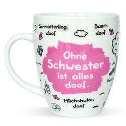 "Sheepworld Tasse Sheepworld - Tasse ""Ohne ... ist alles doof"" 0,5l ODIAD Geschenk Kaffee- Tasse Motiv: Schwester"