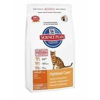 Hill's Science Plan Feline Adult Optimal Care Lamm 10 kg