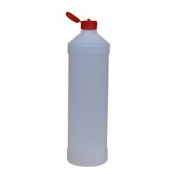 Leerflasche PE-Kunststoff 1 L Dosierhilfe Rot