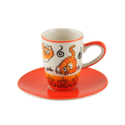 Mila Espressotasse Mila Keramik Espresso-Tasse mit Untere Oommh Yoga, Keramik