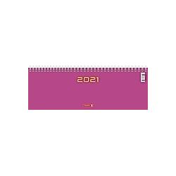 Querterminbuch Modell 772, 2021, Karton-Einband pink