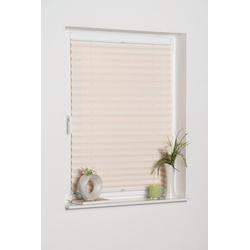 Plissee LUCERA, K-HOME, Lichtschutz, ohne Bohren, verspannt, BAMBUS-Plissee weiß 100 cm x 130 cm