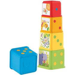 Fisher-Price® Stapelspielzeug Entdecker- und Stapelwürfel, (5-tlg)