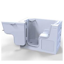 HAK Badewanne SERENITY Sitzbadewanne mit Tür, 130x75 cm, links