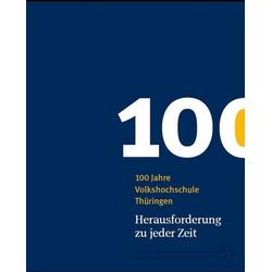 100 Jahre Volkshochschule Thüringen als Buch von
