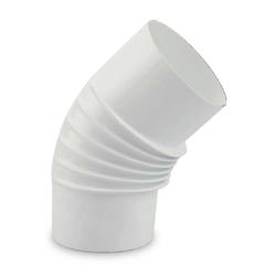 Ø 100 mm Ofenrohr Bogen gerippt 45° emailliert Weiß