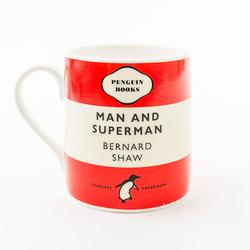 Penguin Tasse Mann und Supermann 26 cl Rot