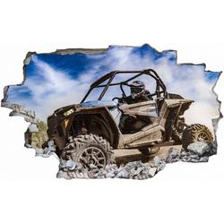 DesFoli Wandtattoo Buggy Offroad Piste Sportmotor C2538 110 cm x 70 cm