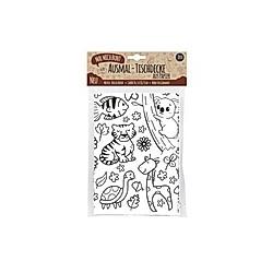 Mal Mich Bunt Ausmal-Tischdecke aus Papier Zoo & Natur