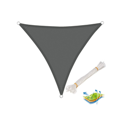 Woltu Sonnensegel, wasserabweisend Sonnenschutz,Polyester grau 500 cm x 500 cm x 500 cm