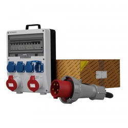 Stromverteiler TD-S/FI 2x32A 4x230 SKH Kabel 5x10mm2 Doktorvolt® 0021