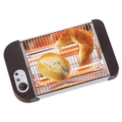 Flach Toaster für Brötchen und Brezel, 600 Watt