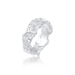 Elli Fingerring Ginkgo Blätter Trend Cool Glück 925 Silber, Ginkgo 52