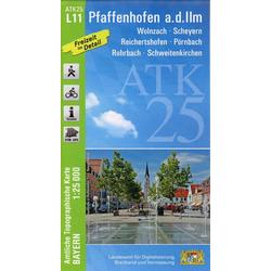 Pfaffenhofen an der Ilm 1 : 25 000