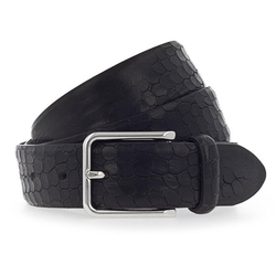 b.belt Gürtel Leder schwarz 105 cm