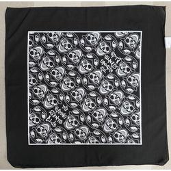 Riding Gents Bandana Skull - Midnight Black