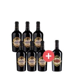 6er-Paket Roccia Rosso + GRATIS Roccia Rosso Primitivo di Manduria - Weinpakete