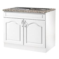 wiho Küchen Spülenschrank Linz 100 cm breit, inkl. Einbauspüle weiß