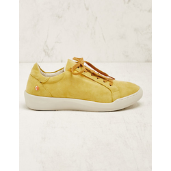 Softinos Damen Leder-Sneaker Alfrede gelb