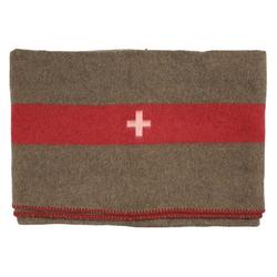 Wolldecke Schweiz. Wolldecke, braun, 200 x 150 cm, MFH